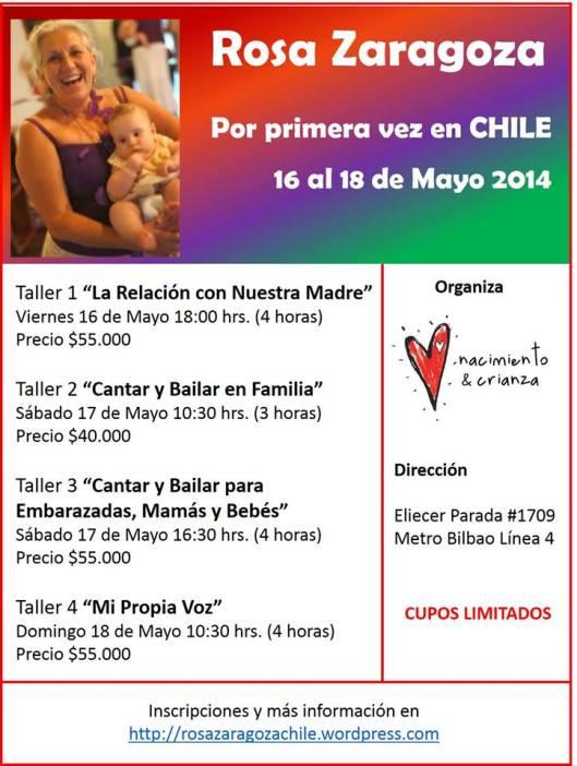 ¡¡Felices!! ¡Una fiesta a la vida con Rosa Zaragoza en Chile! inscríbete!!